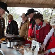 San Saba Chamber of Commerce serving stew dinner